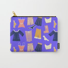 Colorful hanging clothes seamless pattern. Creative and modern graphic design. Vibrant colors. Carry-All Pouch