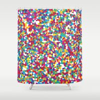 crystal Shower Curtains featuring Crystal by Simon C Page