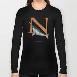 N Is For Narwhal Under Appreciated AnimalsTM ABC Nursery Decor Sea Life Blue Unusual