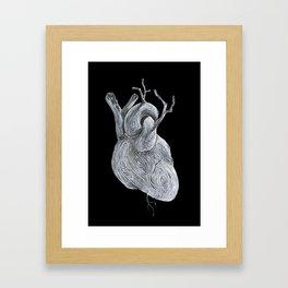 driftwood heart Framed Art Print
