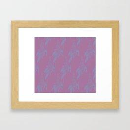 Blurred Flower Framed Art Print