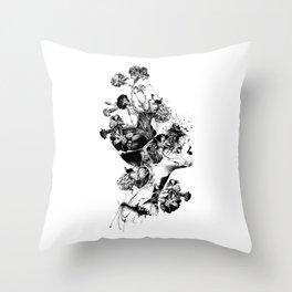 Broken BW Throw Pillow