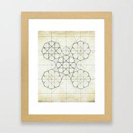 Geometry Sketch Nine Framed Art Print