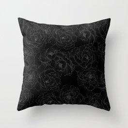 Peony Flower Pattern III Throw Pillow