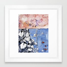 Climbing the painted Framed Art Print