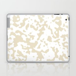 Spots - White and Pearl Brown Laptop & iPad Skin
