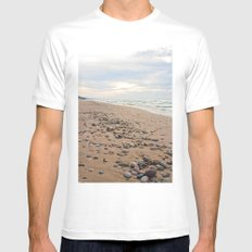 A Stones Throw ... MEDIUM Mens Fitted Tee White