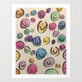 ALL SMILES Art Print