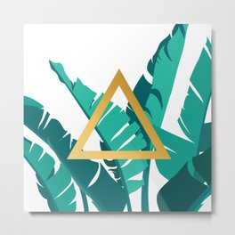 Leafs and triangle Metal Print
