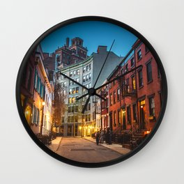 Twilight Hour - West Village, New York City Wall Clock