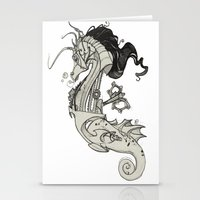 steam punk Stationery Cards featuring Steam Punk Horse  by FlyingFrogIllustration