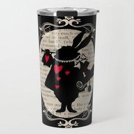 Alice In Wonderland White Rabbit Vintage Book Travel Mug