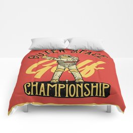 Outer Space Golf Championship Comforters