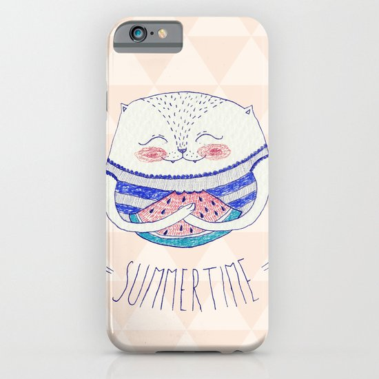 summertime cat iPhone & iPod Case