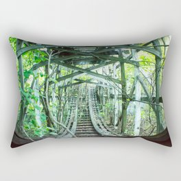Nature  has taken over, Old Fun abandoned roller coaster Rectangular Pillow