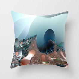 Hiding in a Fantasy Waterworld -- Fractal art by Twigisle at Society6 Throw Pillow