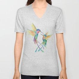 Hopeful Hummingbirds Unisex V-Neck