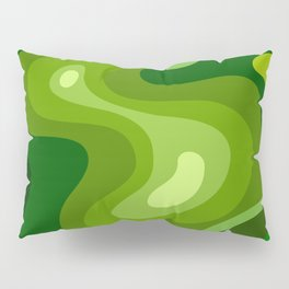 Multi Color Green Liquid Abstract Design Pillow Sham