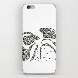 Vanishing Penguins by Black Dwarf Designs iPhone Skin