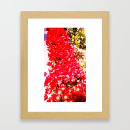 Red my color, my blood. Framed Art Print