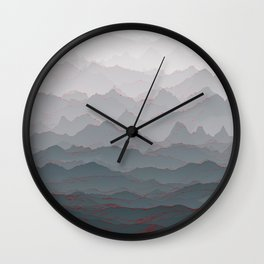 Mountains of Madness I Wall Clock