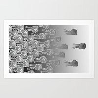 Punches In Bunches! Art Print