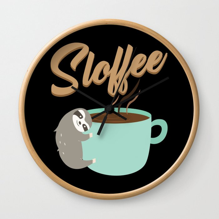 Sloffee | Coffee Sloth Wall Clock