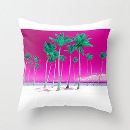 Pink Tropics Throw Pillow