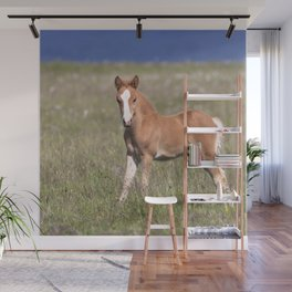 Watercolor Horse 17, Icelandic Pony, Höfn, Iceland, Struck the Pose Wall Mural
