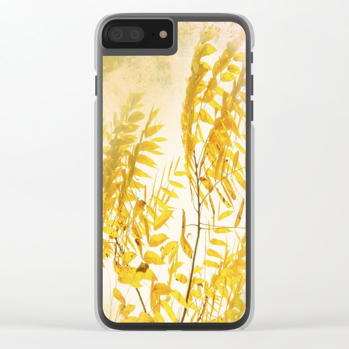 Yellow Branch Clear iPhone Case