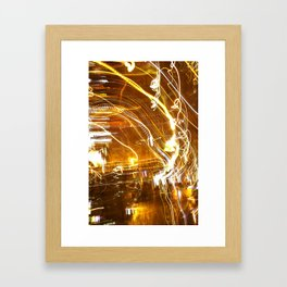 Hazy nights Framed Art Print