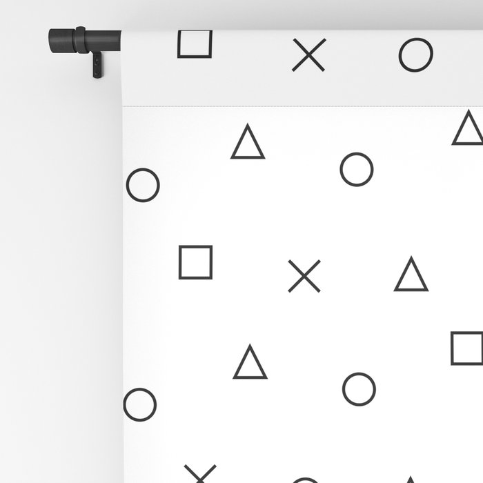 gaming pattern - gamer design - playstation controller symbols Blackout Curtain