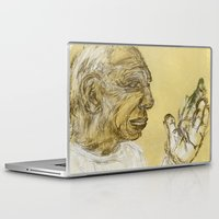 picasso Laptop & iPad Skins featuring picasso portrait by rAr : Art by Robyn Ashley Rosner