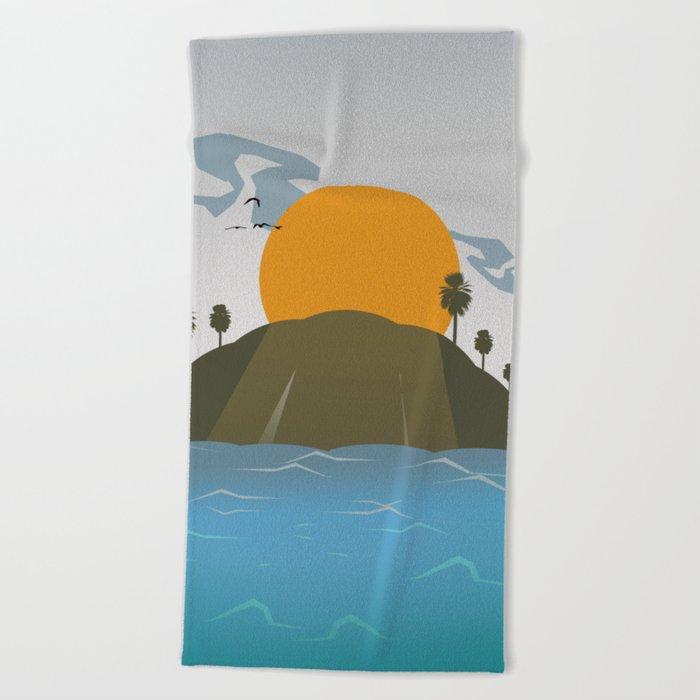 Tropic storm is coming Beach Towel