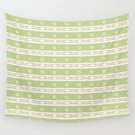 Letucce Green Stripes Wall Tapestry