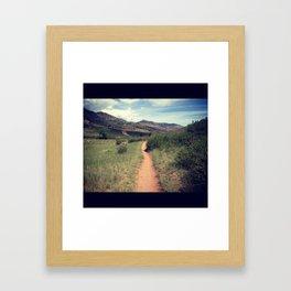Hiking in Fort Collins, Colorado Framed Art Print