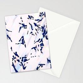 Blue Splatter Painting Pattern Stationery Cards