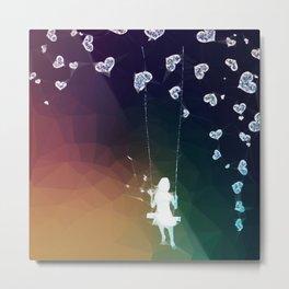 Swinging hearts Metal Print