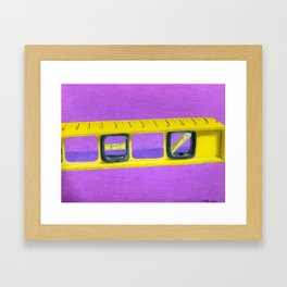 level headed Framed Art Print