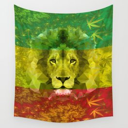 Rasta Lion Wall Tapestry