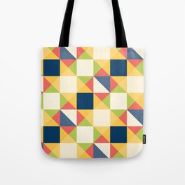 Colorful Triangle Pattern Tote Bag