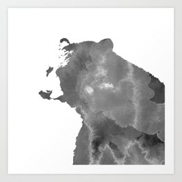 graphic bear II Art Print