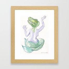 TIA T-REX #mermasaur Framed Art Print