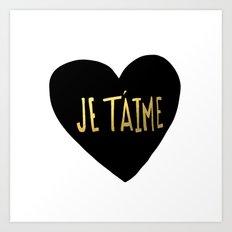 je t'aime x heart Art Print