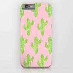 Linocut Cacti Minty Pinky iPhone 6s Slim Case
