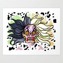 Cruella Deville Rage Art Print