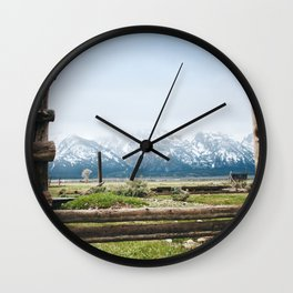 Backyard in Yellowstone Wall Clock