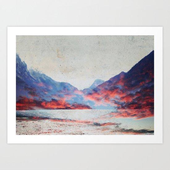 Fall Mountains Art Print