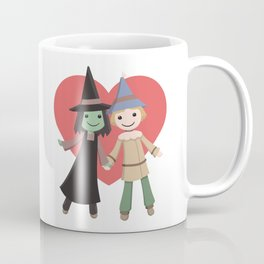 Cute witch and scarecrow Coffee Mug