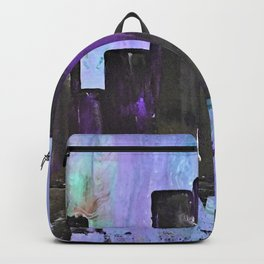 Purple City. Cyber Punk City. Jodilynpaintings Purple City Abstract Backpack